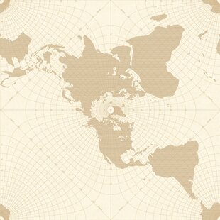 Old World Map Wallpaper | Wayfair