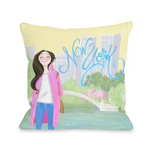 love from nyc 24 new york girl throw pillow
