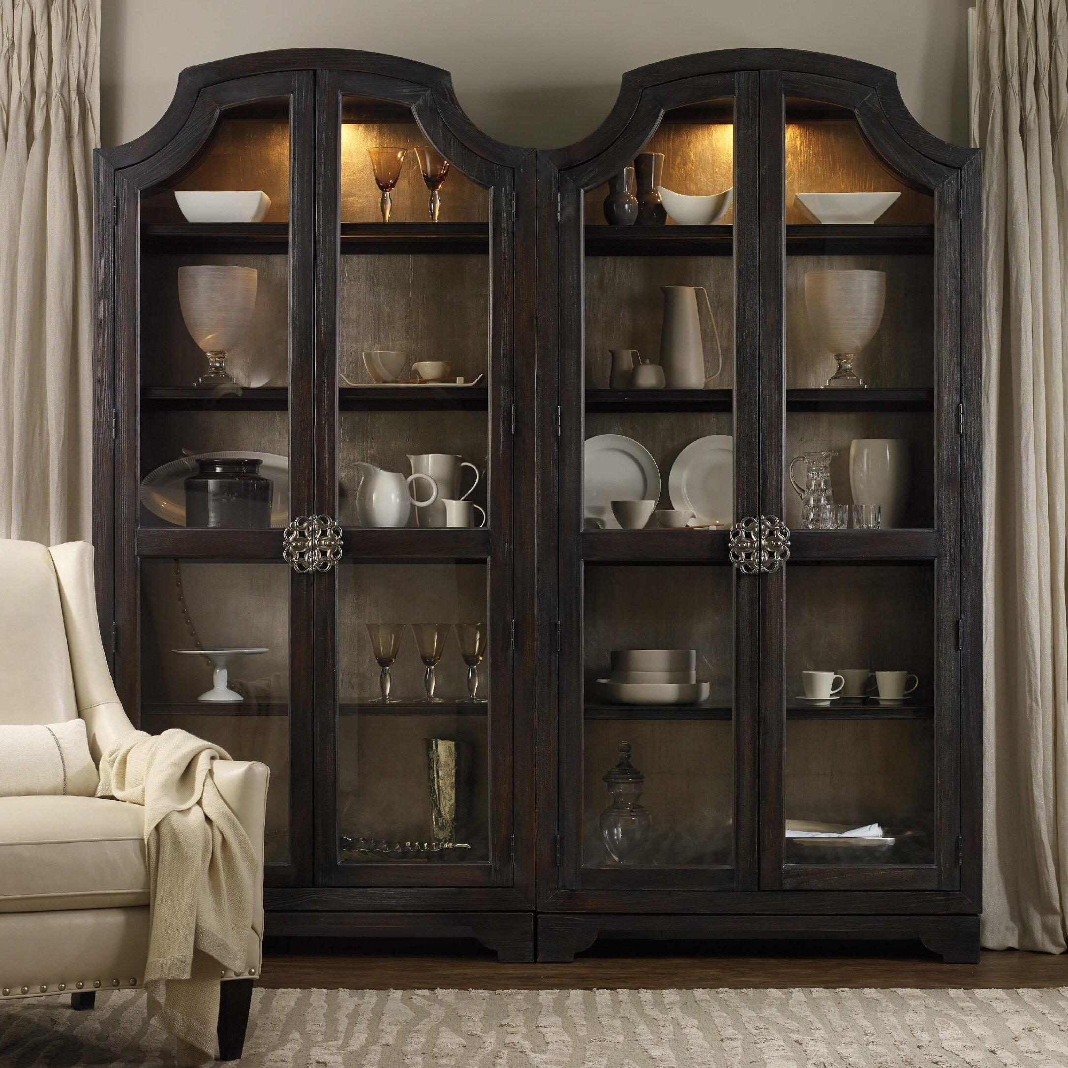 walnut from omero antique product bookcase bookcases home italy in lighted