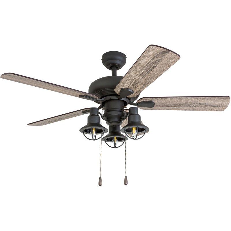 "42"" Raymer 5 Blade Led Ceiling Fan, Light Kit Included"
