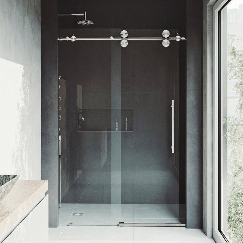 Vigo Elan 68 X 74 Single Sliding Frameless Shower Door Reviews