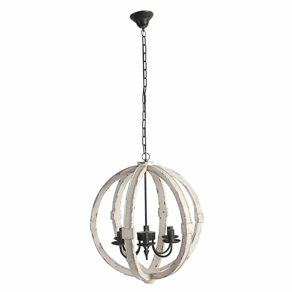 Reanna wooden 6 light globe chandelier