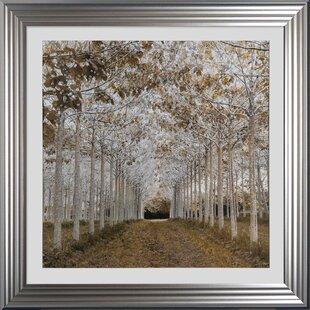 4332ea3c23f5  White Gold  Framed Graphic Art Print