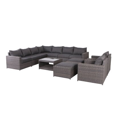 Brayden Studio Goudreau 12 Piece Sectional Set with Cushions