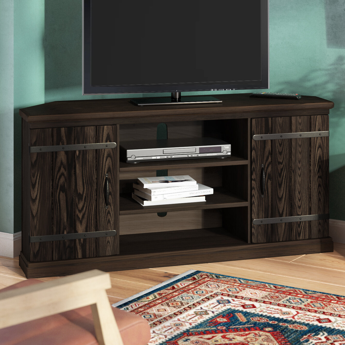 Millwood Pines Esmeyer Corner Tv Stand For Tvs Up To 60 Reviews