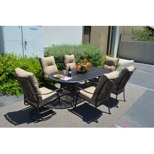Florence 7 Piece Dining Set With Cushions By K B Patio