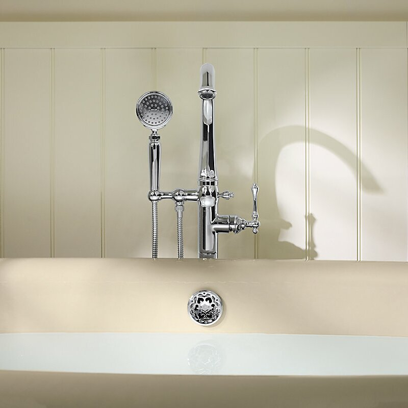 Kohler Kelston Floor Mount Bath Filler with Hand Shower   Wayfair