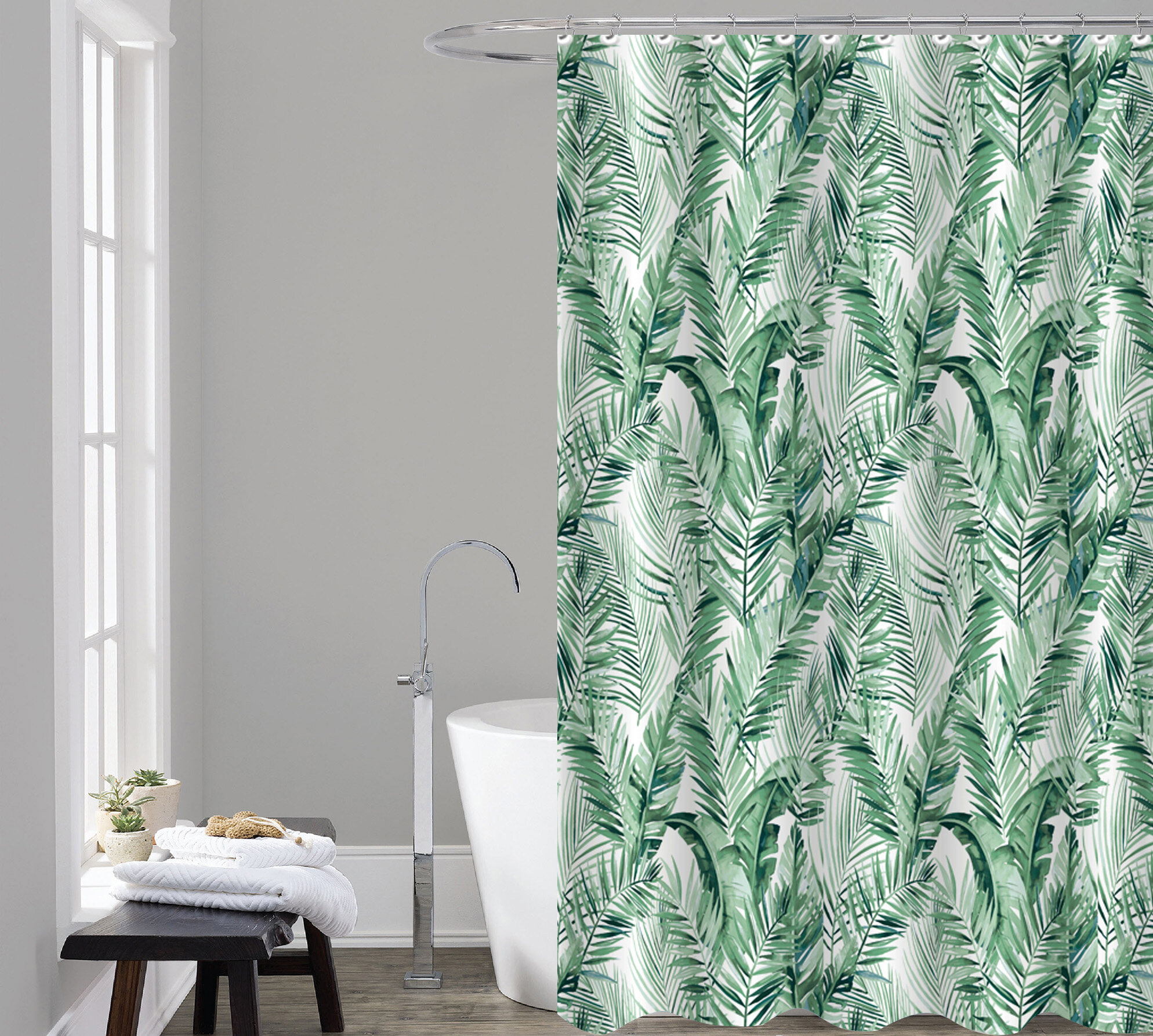 Spurlin Printed Single Shower Curtain Hooks