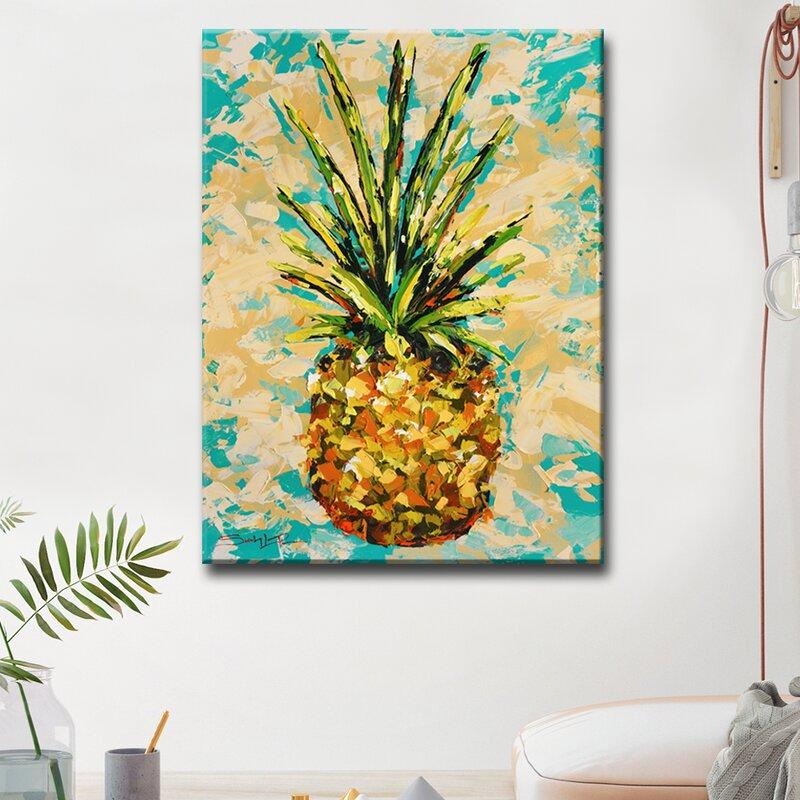Ready2hangart Fiesta Pineapple By Sarah Lapierre