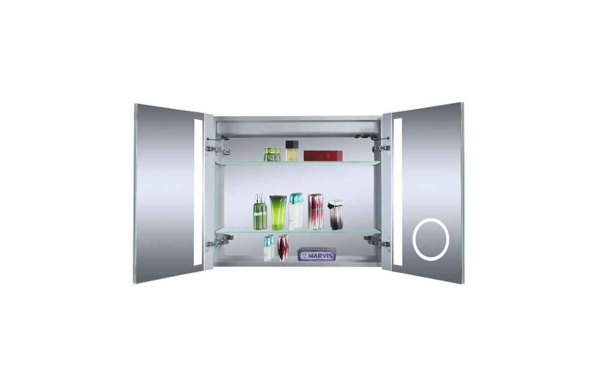 "Cedar Grove 30"" x 26"" Mirror Cabinet with LED Lighting ..."