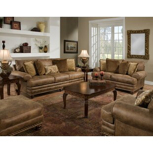 claremore configurable living room set - Leather Living Room Furniture