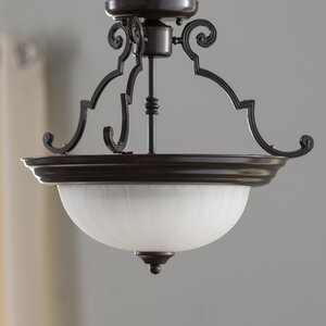 Isaacson 2-Light Semi Flush Mount