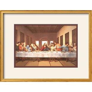 u0027The Last Supperu0027 Framed Graphic Art Print  sc 1 st  Wayfair & The Last Supper Black Wall Art | Wayfair