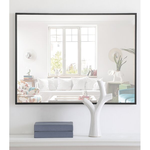 Modern Contemporary Thin Black Frame Mirror Allmodern