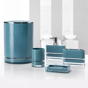 turquoise bathroom accessories sets. Majesty 5 Piece Bathroom Accessory Set Blue Accessories You ll Love  Wayfair