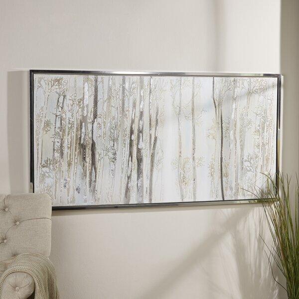 Framed Birch Tree Art   Wayfair