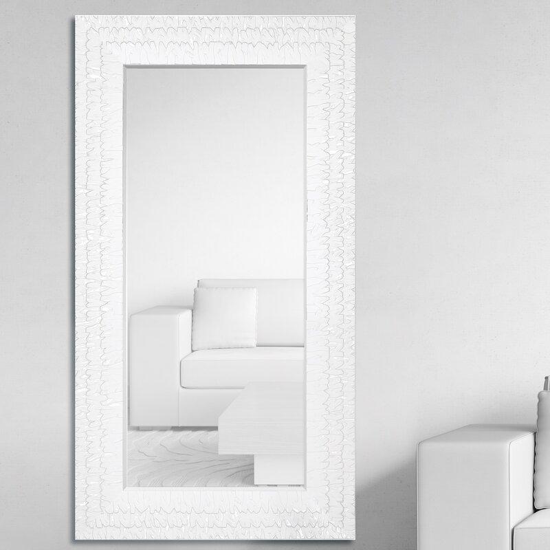 Oversized Rectangular Framed Beveled Glass Wall Mirror
