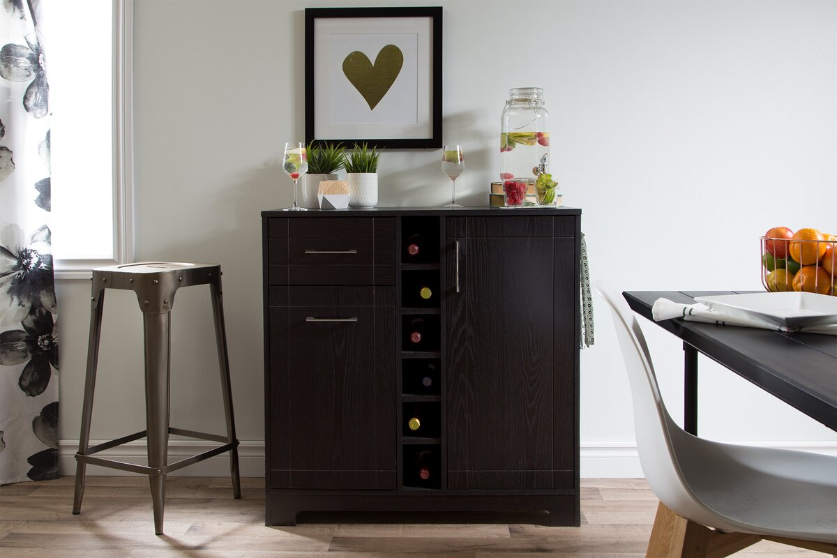south shore vietti bar cabinet reviews wayfair. Black Bedroom Furniture Sets. Home Design Ideas