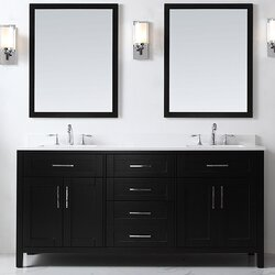 "Bathroom Vanity Espresso ove decors tahoe 72"" double bathroom vanity set with mirror in"