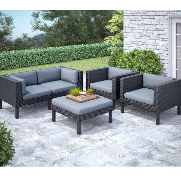 DCOR Design Oakland 5 Piece Sofa Set With Cushions