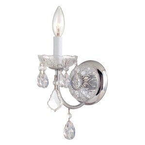 stacey 1light crystal wall sconce