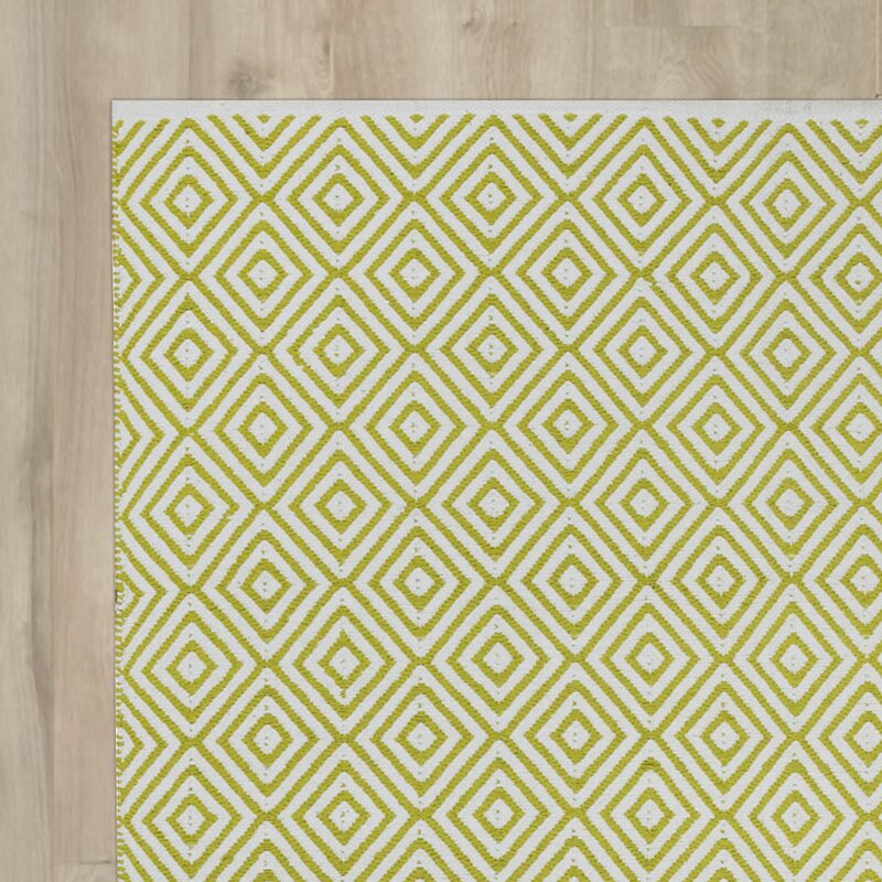 Fab Hab Veria Handwoven Cotton Green Rug