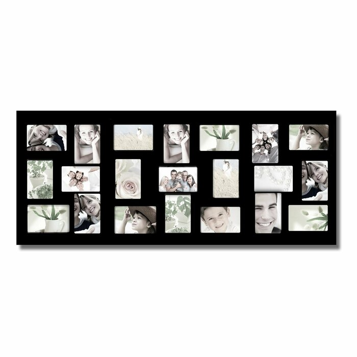 Winston Porter Jaynes 21 Opening Wooden Photo Collage Wall Hanging ...