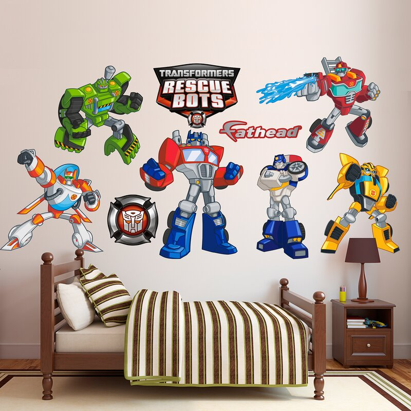 Hasbro Transformers Rescue Bots Peel And Stick Wall Decal Part 71