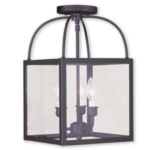 Brundidge 3-Light Convertible Semi Flush Mount
