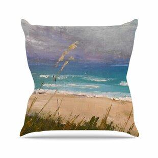 Florida Beach Scene Carol Schiff Throw Pillow