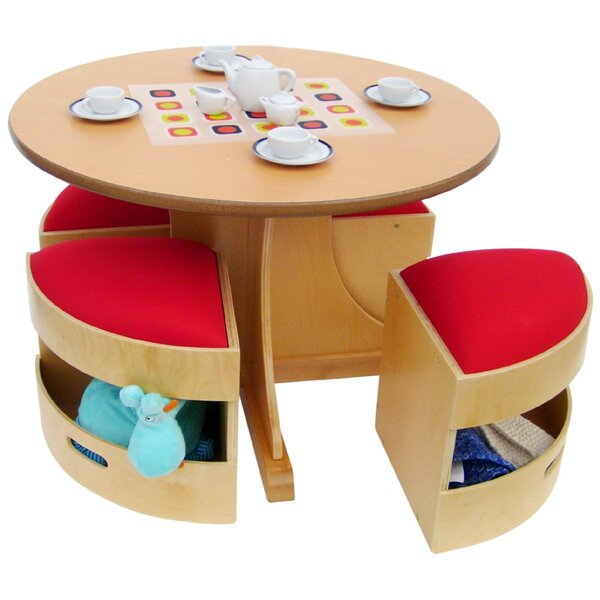 A+ Child Supply 5 Piece Table and Stools Set & Reviews   Wayfair