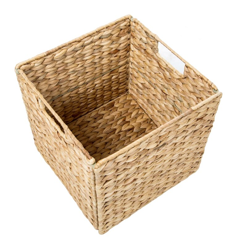 Hyacinth Foldable Storage Basket with Iron Wire Frame  sc 1 st  Wayfair.ca & Trademark Innovations Hyacinth Foldable Storage Basket with Iron ...