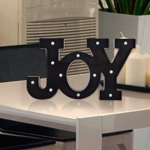 Rustic LED Plastic Letter Wall Décor