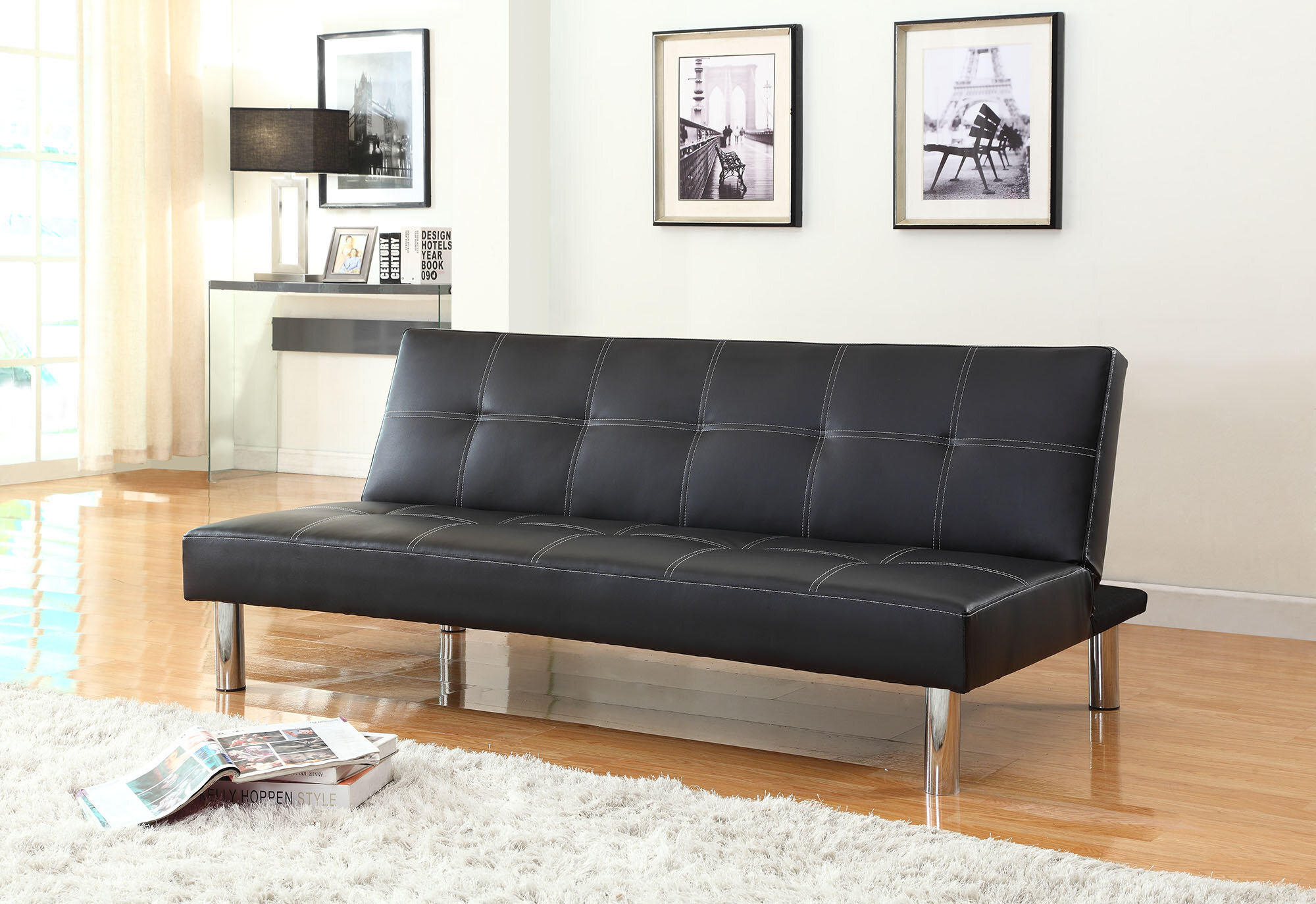 NathanielHome Issac Futon Convertible Sofa & Reviews | Wayfair