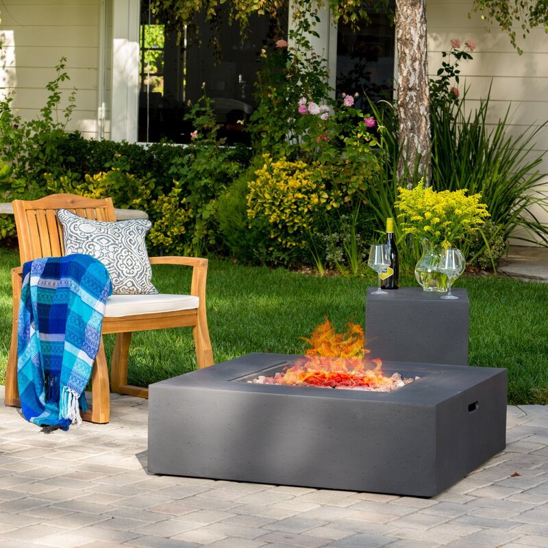 Olivet Gas Fire Pit Table With Tank Holder