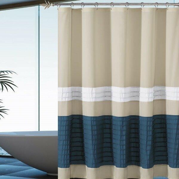 Breakwater Bay Alia Pleated Shower Curtain | Wayfair