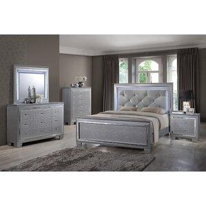 gray bedroom sets. Guerrero Panel 6 Piece Bedroom Set Queen  Wayfair