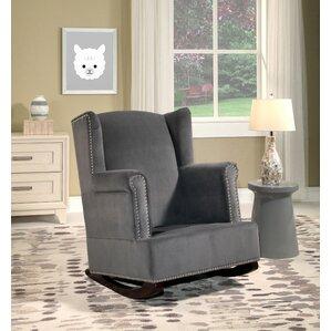 Abasi Wingback Rocking Chair
