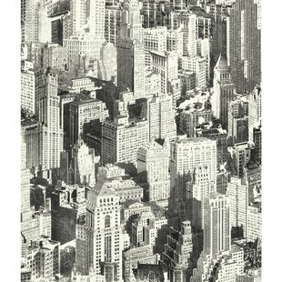 Runion New York City 165 L X 205 W Peel And Stick Wallpaper Roll