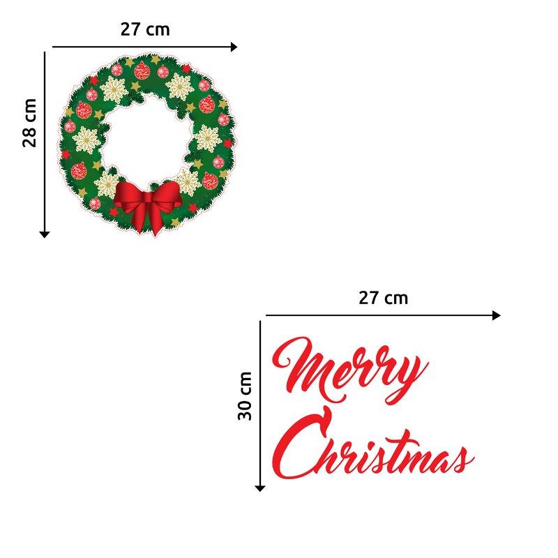 merry christmas garland wall decal