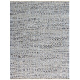 Bertrand Polo Flat Weave Blue Area Rug