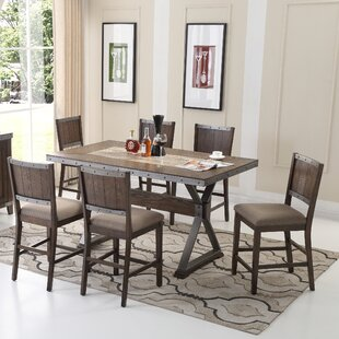 5 Piece Counter Height Dining Set : trestle table dining set - pezcame.com