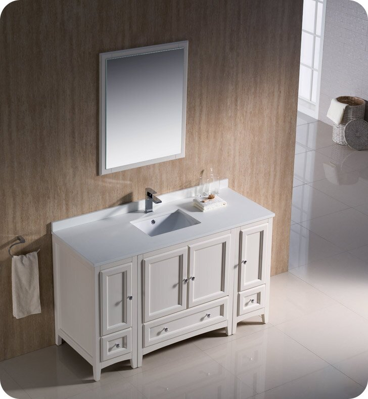 Fresca Oxford 54 Single Bathroom Vanity Set With Mirror Reviews