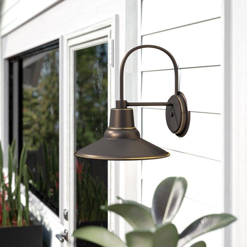 Ebern Designs Chew 1-Light Outdoor Barn Light & Reviews