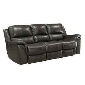Red Barrel Studio Hughes Leather Reclining Sofa