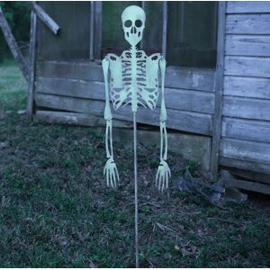 Skeleton Yard Art Statue
