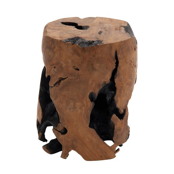 Modern & Contemporary Wood Teak Stool   AllModern