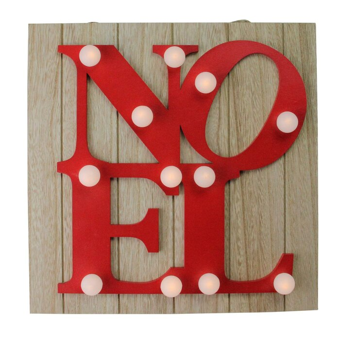 Letter Noel Battery Operated Decorative Accent