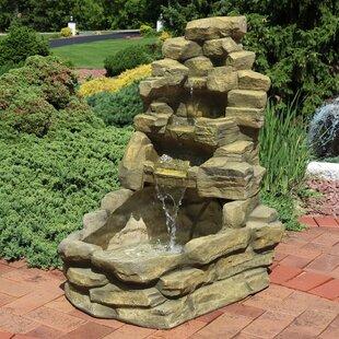 Gilberto Fiberglass Stone Falls Fountain