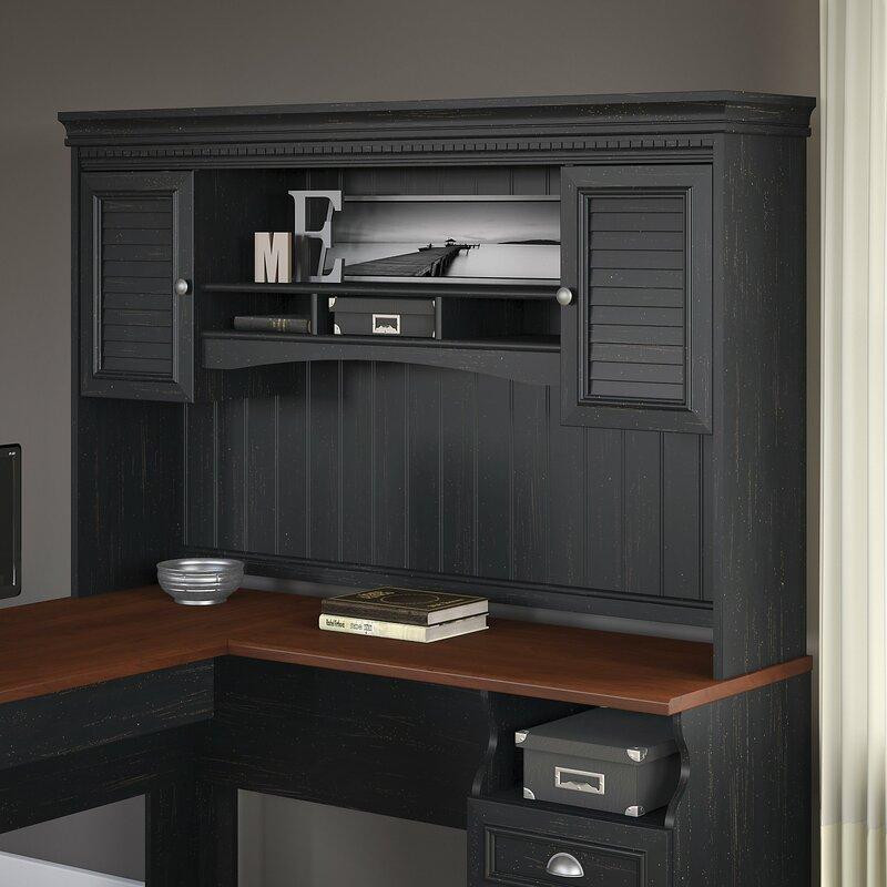 Beachcrest Home Oakridge L Shaped puter Desk with Hutch
